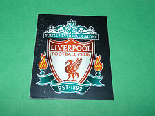 N°302 BADGE LIVERPOOL ANFIELD MERLIN PREMIER LEAGUE FOOTBALL 2007-2008 PANINI