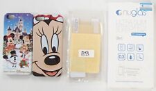2 x iPhone 5s Cases Disneyland Hong Kong Minnie Mouse & Screen Covers Protectors