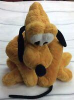 """Vintage Pluto Disneyland Paris Resort Plush Teddy Sitting Dog 15"""" Beany Bottom."""