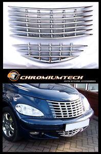 Chrysler PT Cruiser CHROME Grill Cover 2pc. set For 2001-05 PRE-Facelift Models