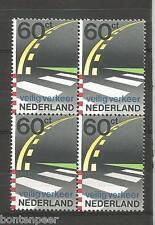 NVPH 1270POSTFRIS IN BLOKKEN VAN 4 VEILIG VERKEER 1982 CAT.WRD. 2,00 EURO