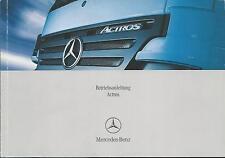 LKW   MERCEDES   ACTROS   2006   Betriebsanleitung  930  Bedienungsanleitung  BA