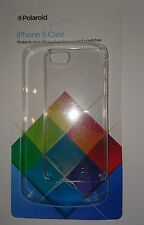 BNIB Polaroid iPhone 5 case clear hard shell case protect against bumps/scratche