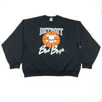 Retro Bad Boys Detroit Pistons Mens 3XL Black Sweatshirt Crew Neck Cotton Blend