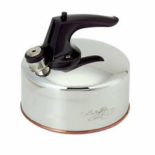 Revere 1-1/2 Quart Polished Stainless Steel Traditional Whistling Tea Kettle