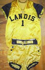 -Rare- 1930's -Landis, Nc- Vintage Satin Girl's Game Used Basketball Uniform
