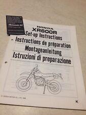 Honda XR600R K XR600 R XR 600 instruction de préparation set-up
