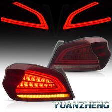 Für 2013-2019 Subaru WRX STI mit Sequentieller Blinker LED-BAR-Rückleuchten Paar