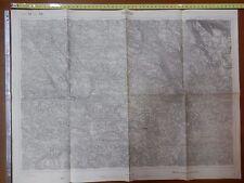 Vecchia carta geografica militare 1915 prima guerra mondiale Serbia ROGATICA