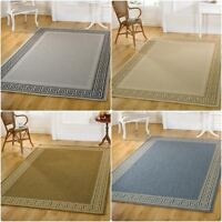 Large Small Runner Flatweave Natural Beige Blue Grey Green Rug in Various sizes