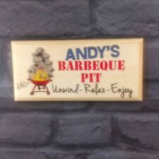 Personalised BBQ Pit Plaque / Sign - Gift - Barbeque Summer Dad Father Garden