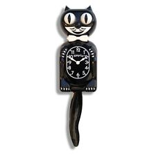 Felix The Cat Classic Wall Clock Black Eyes Pendulum Tail Rolls Wags Batteries