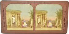 """Lot de 6 vues stereo panoptique tissu """"Le Petit Chaperon Rouge"""". Bon état."""