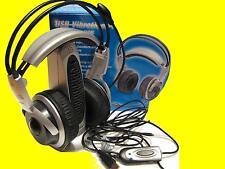 5.1 Gamer USB Vibrations-Headset/Kopfhörer mit Mikrophon/Fernbedienung/