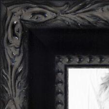 "ArtToFrames Custom Picture Poster Frame Black Engraved 1.5"" Wide Wood"