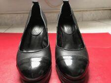 Chaussures Femme, cuir noir, taille 37