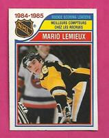 1985-86 OPC # 262 PENGUINS MARIO LEMIEUX LEADERS ROOKIE EX+ CARD (INV# D0774)