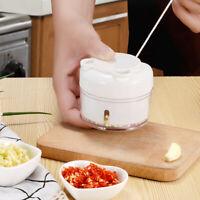 Garlic Grinder Manual Food Chopper Shredder hand Pull Cutter for Vegetables