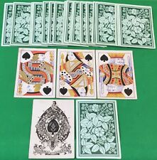 More details for old antique 1860 goodall square corner bezique playing cards - blackberry bush