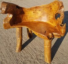 Teak Root Chair Bench Solid Reclaimed  Hand Finished Chair solid teak
