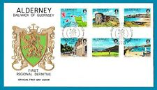ALDERNEY 1983 Scenes Definitives - 6 stamps  - 13p to 18p - SG A7/12 - FDC