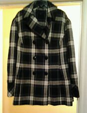 NEW  STEVE MADEN WOMEN'S  PEACOT PLAID (BLACK, WHITE, GRAY) SZ 3X $ 240