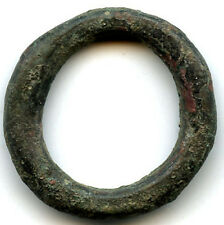 Huge (29 mm, 11.06 g.) authentic bronze Ancient Celtic ring money, 800-500 Bc