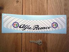 Alfa Romeo à damiers VISIÈRE CASQUE BANDE VISIÈRE Autocollant Course Rallye
