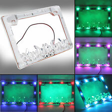 12V 3W Waterproof Colorful LED License Plate Flash Frames for Motorcycle Car