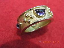 Nastro RING 750er GOLD 1 x Brillante 2x AMETISTA. gioielliere lavoro/Pezzo unico