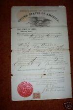 1869 NATURALIZATION PAPER > Original > NICE !!