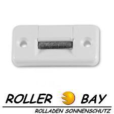 Maxi Rolladen Gurtführung eckig mit Bürste weiß Rollladen für 23 mm Gurtband