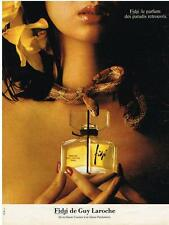 PUBLICITE  1976  GUY LAROCHE   FIDJI parfum