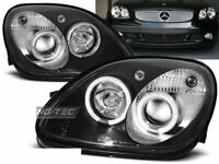 Faros para Mercedes R170 SLK 96-04 Angel Eyes Black LPME15ET XINO ES