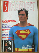 STARBURST MAGAZINE No 108 AUGUST 1987 DOCTOR WHO - SUPERMAN IV - STAR TREK