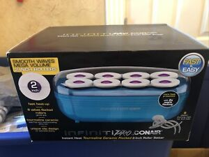 "Conair Instant Heat Tourmaline Ceramic Flocked Hot Rollers, 2"" Hot Roller Setter"