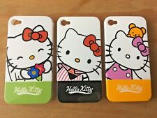 GLOSSY HARD PLASTIC BACK CASE / COVER - APPLE iPHONE 4 4S - HELLO KITTY DESIGNS