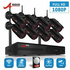 Anran Hd беспроводной камеры безопасности система открытый домашний 8CH NVR 1080P 2 ТБ CCTV комплект