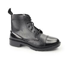 Mens Grafters High Shine Cadet BOOTS Size UK 4 - 12 Leather Black M166a KD UK 8 (eu 42)