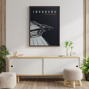 INVADERS FROM OUTER SPACE - 1 X POSTER A4, A3, A2 SIZES AVAILABLE P1 - NO FRAME
