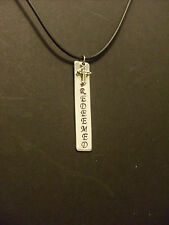 "Personalized Handmade Hand Stamped Aluminum 2"" Tag w/ Cross ""REDEEMED"" Necklace"