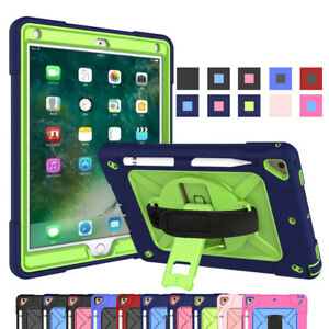 "For iPad 5th 6th Gen Air 2 Pro 9.7"" Shockproof Case Cover with Stand&Hand Strap"