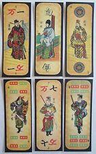 Six Vtg, 2002 Mahjong Playing Cards, Reproduction 1920s Golconda Mah Jongg