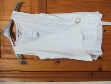 BNWT NEXT PETITE size 10 cream side tie top fine pleated / sheer  FORMAL
