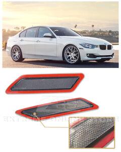 For 12-15 BMW F30 F31 3-Series Crystal SMOKE Bumper Reflector Side Marker Lights