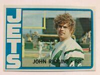 1972 TOPPS FOOTBALL JOHN RIGGINS rookie NFL Football Card #13 New York JETS