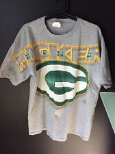 Vintage Size Medium 1995 Riddell Green Bay Packers Grey NFL T-Shirt