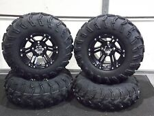 "25""  ITP MUD LITE ATV TIRE & ITP SS212 BLK  WHEEL KIT LIFETIME WARRANTY  SRA"