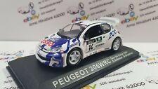 Peugeot 206 WRC - Tour de Corse 1999 - F. Delecour 1:43   avec boite plexi