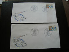 FRANCE - 2 enveloppes 1er jour 27/3/1971 (journee du timbre) (cy33) french